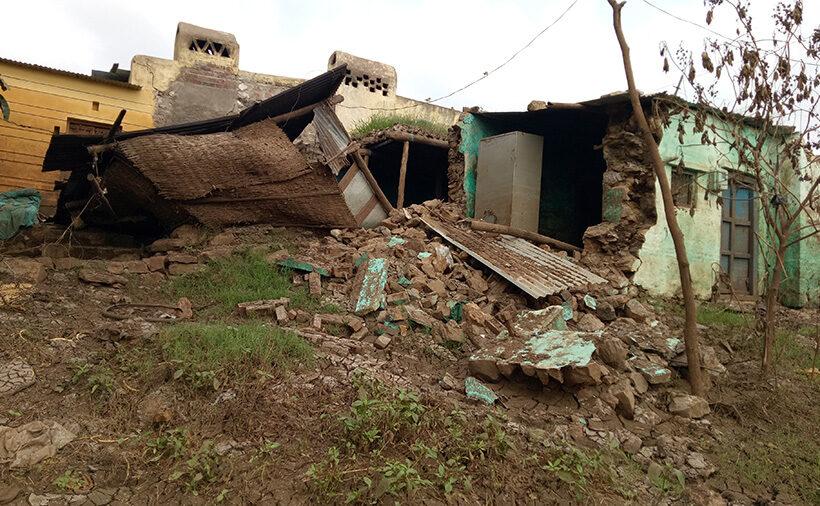 Relief work in flood-hit villages of North Karnataka