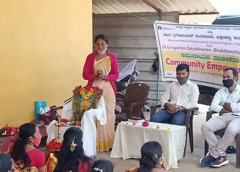 Community Empowerment program under Revised National Tuberculosis Control Program  at Byrapura and Yadavani