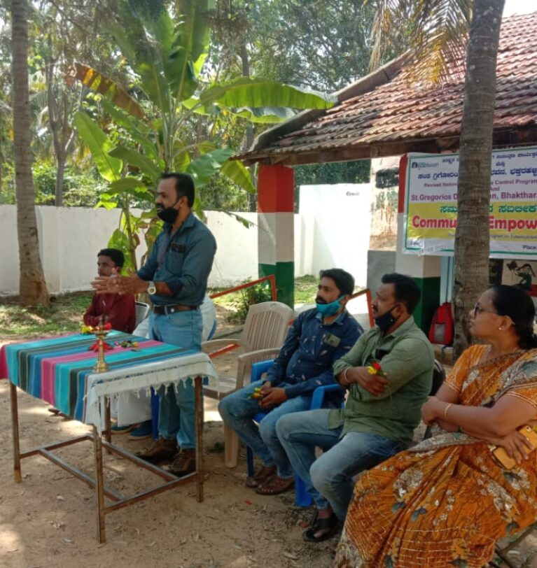 Community Empowerment and Sputum collection program held at Honnenahalli village